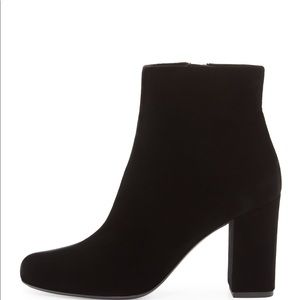 Saint Laurent Babies 90mm Black Velvet Boots